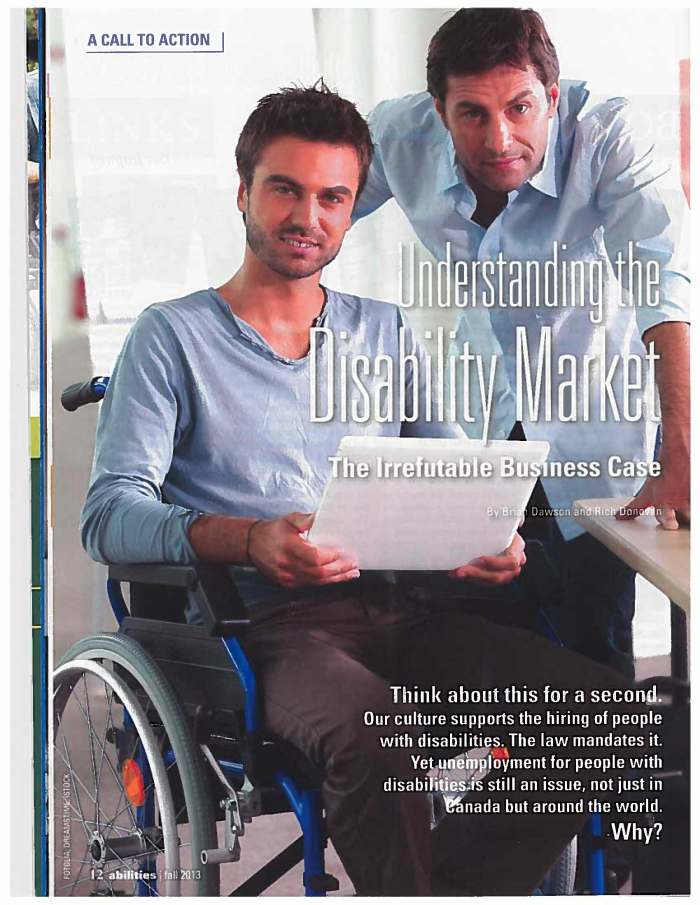 2013 11 19 - Abilities Magazine - Understanding the Disability Market_Page_1