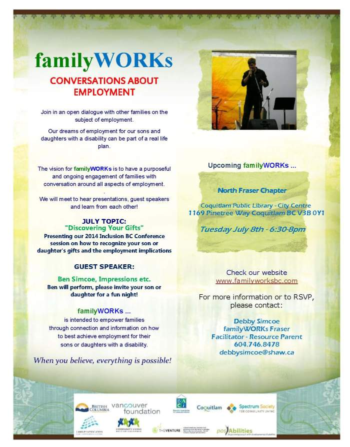 familyWORKs July North Fraser