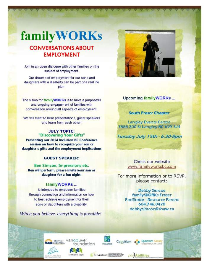 familyWORKs July South Fraser