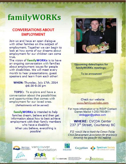 familyWORKs July 17, 2014 - Courtenay