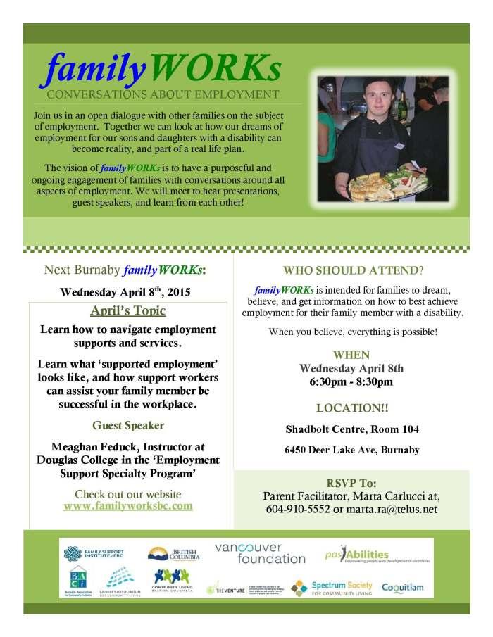 familyWORKs Burnaby April 8th