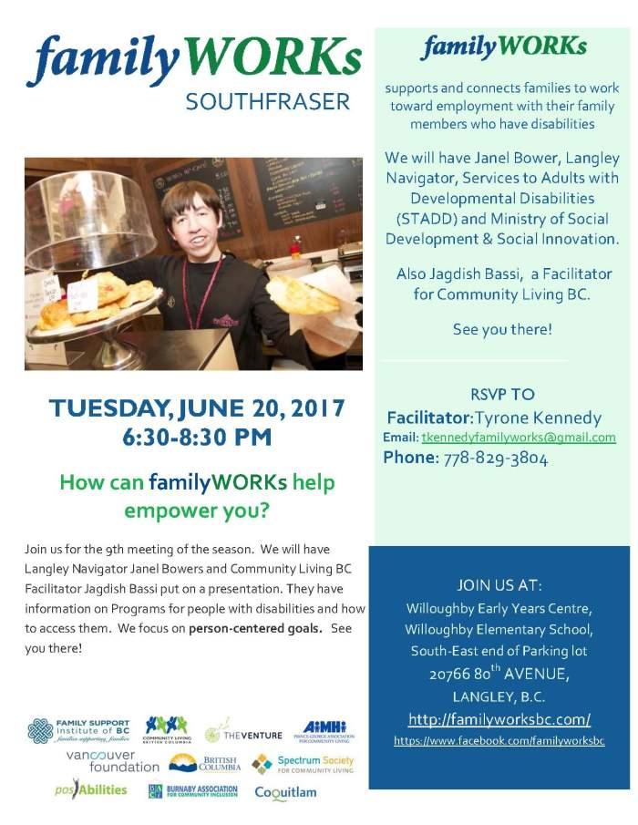 familyWORKs SouthFraser 2017June20