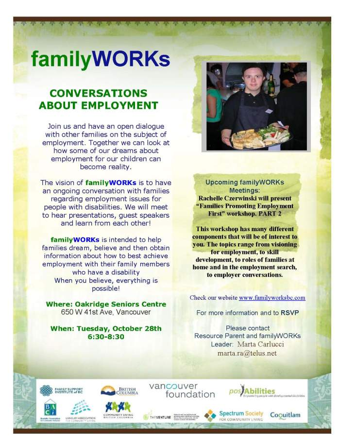 familyWORKs Vancouver Oct-14
