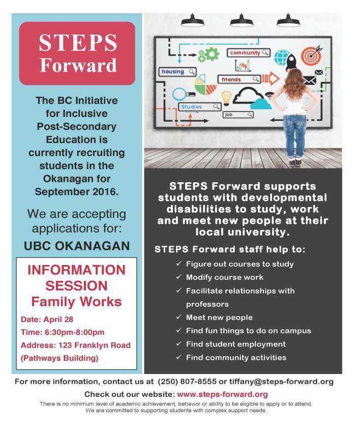 2016 UBCO Info Session (Family Works)