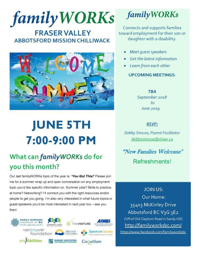 06.05.2018 familyWORKs FRASER VALLEY