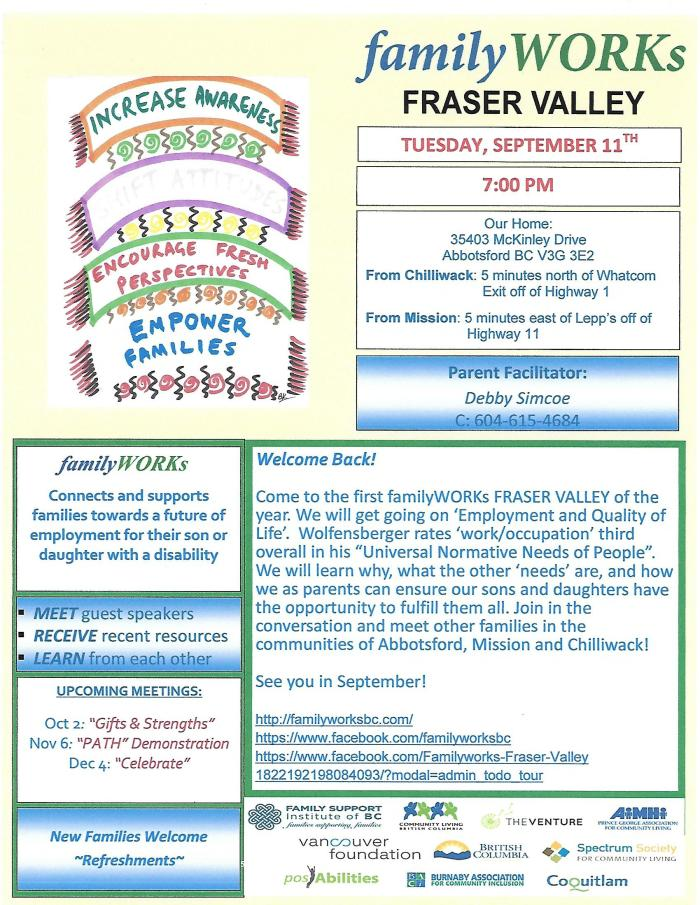 09.11.2018 familyWORKs FRASER VALLEY